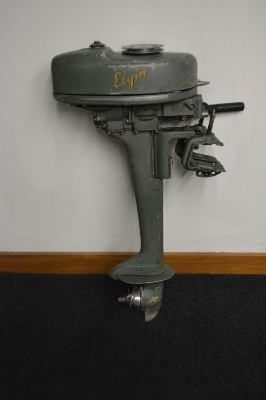 Elgin Boat Motor Vintage Basement Find