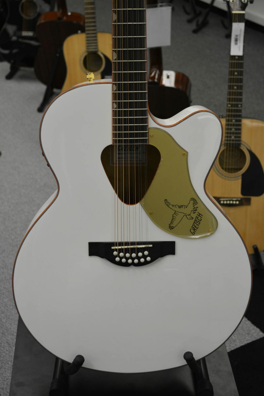 gretsch white falcon 12 string guitar g5022cwfe ebay. Black Bedroom Furniture Sets. Home Design Ideas