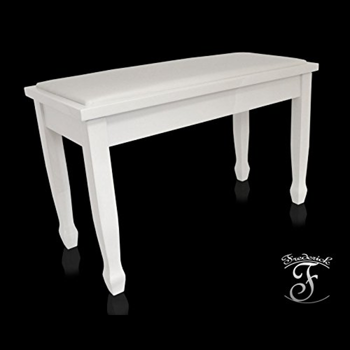 Frederick Duet Piano Bench White Polish Ebay