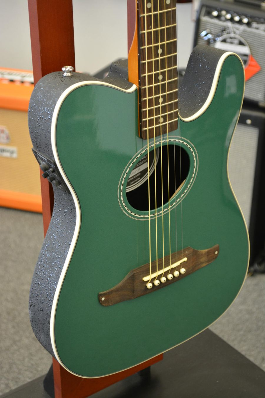 fender telecoustic plus acoustic electric guitar sherwood green ebay. Black Bedroom Furniture Sets. Home Design Ideas